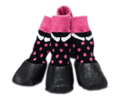 Puppy Love Anti-Slip Waterproof Sock Shoes for Toy Breed Dogs, pink, extra small