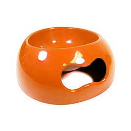 Canine Plastic Non Topple Bowl, orange, small