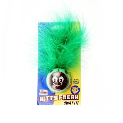 Petsport USA Kitty Freak Ladybug CatNip Toy, green