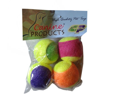 Canine Tennis Ball Cat Toy, 2 inch, multi colour