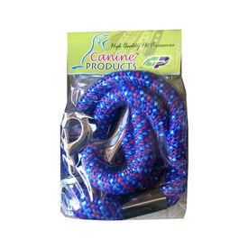 Canine Double Extra Thick Braided Reflective Rope Leash, blue, xxl