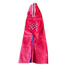 Rays Deluxe Printed Raincoat for Large Dogs, bones paws, 26 inch, red