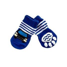 Puppy Love Multi Designs Anti Skid Socks for Medium Breed Dogs, blue car, large