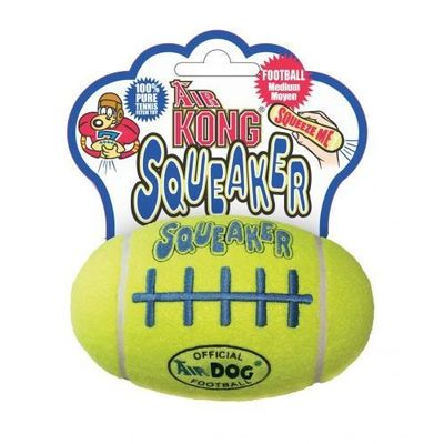 Kong Air Dog Rugby Shaped Squeaker Dog Toy, 6 inch