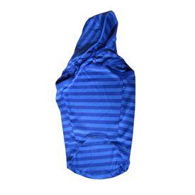 Zorba Designer Striped Hoodie for Medium Dogs, blue with disney print, 22 inch