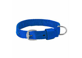 Kennel Nylon Royal Dog Collar for Medium Dogs, 1 inch, 22 inch, blue