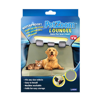 PetZoom Loungee Auto Pet Back Seat Cover for Dogs and Cats, universal, black