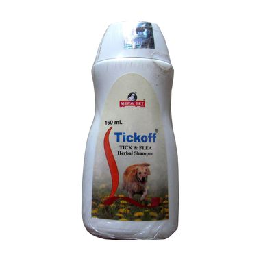 Mera Pet Tick Off Tick and Flea Herbal Shampoo, 230 ml