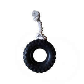 Super Dog Knotted Rope with Tyre Dog Toy, 6 inch