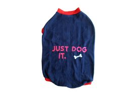 Rays Fleece Warm Just Do it Tshirt for Large Dogs, 28 inch, navy