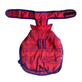 Rays Fleece Foam Warm Winter Coat for Small Dogs, 18 inch, red zig zag