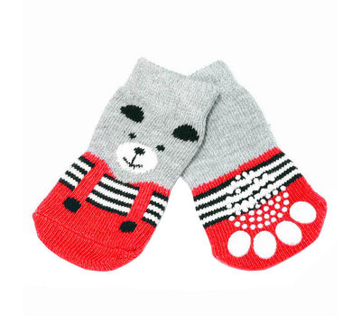 Puppy Love Anti Skid Socks for Small to Medium Breed Dogs, yellow streaks, medium