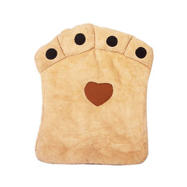 Nunbell Paw Shaped Cushion Bed for Large Dogs Cats, beige, 32 x 40 inch