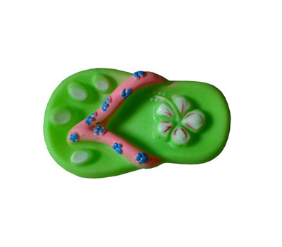 Canine Latex Slipper Shaped Squeaky Dog Toy, assorted