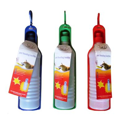 Plastic Pet Feeding Water Bottle, 500 ml , assorted
