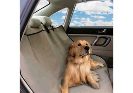 PetZoom Loungee Auto Pet Back Seat Cover for Dogs and Cats, universal, beige