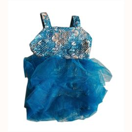 Zorba Shimmering Frock for Big Cats, blue, 12 inch