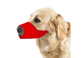 Kennel Nylon Adjustable Muzzle for Dogs, large, red
