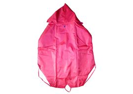 Premium Double Sided Dual Colour Reversable Raincoat for Large Dogs, 26 inch, red blue