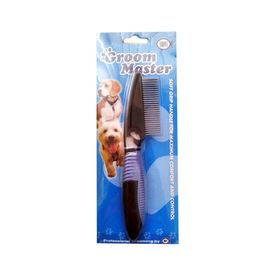Unipet Groom Master Soft Grip Tangle Comb for Dogs and Cats, universal