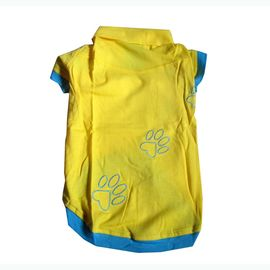 Zorba Designer High Quality Embroidered Tshirt for Toy Breed Dogs, yellow, 10 inch