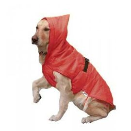 Zorba Designer Dual Protection Solid Raincoats for Large Dogs, 26 inch, red
