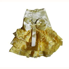 Zorba Shimmering Frock for Small Cats, yellow, 8 inch