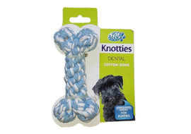 Pet Brands Knotties Dental Cotton Bone, small, blue