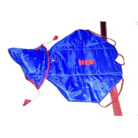 Premium Double Sided Dual Colour Raincoat for Small Dogs, 16 inch, red blue