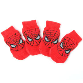 Puppy Love Anti Skid Socks for Medium Breed Dogs, red spiderman, large