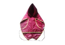 Zorba Dual Protection Solid Raincoat for Giant Dogs, maroon, 32 inch