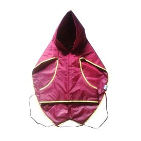 Zorba Designer Dual Protection Solid Raincoats for Medium Dogs, maroon, 22 inch