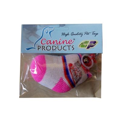 Canine Colorful Socks with String Bell and Catnip Cat Toy, 9 cm