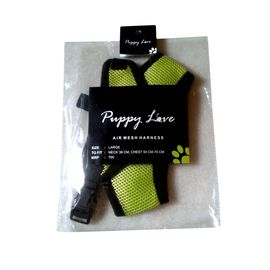 Puppy Love Air Mesh Harness for Small Breed Dogs, large, green