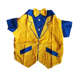 Zorba Party Tuxedo Suit for Small Dogs, 16 inch, yellow & blue
