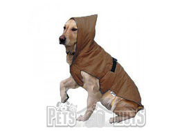 Zorba Dual Protection Raincoat for Large Dogs, brown, 26 inch