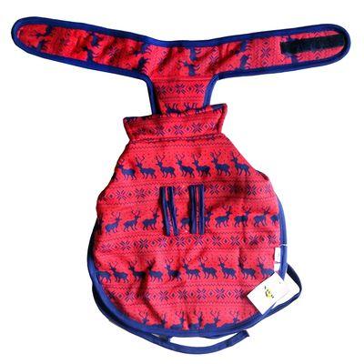 Rays Fleece Foam Warm Winter Coat for Small Dogs, 16 inch, red deer