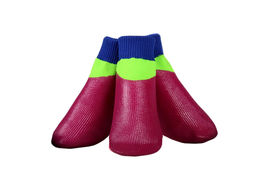 Puppy Love Neon Anti-Slip Waterproof Sock Shoes for Large Breed Dogs, neon magenta, xl