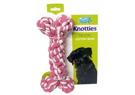 Pet Brands Knotties Dental Cotton Bone, medium, blue