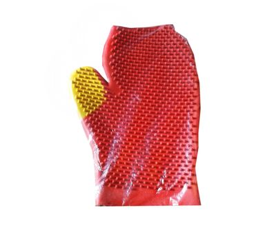 Canine Multicolour Rubber Dog Bath Gloves, universal, multi colour
