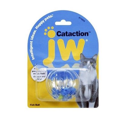 JW Pet Cataction Fish Ball Cat Toy, 2 inch