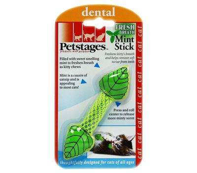 Petstages Fresh Breath Mint Stick Cat Toy, green