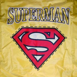 Rays Premium SuperMan Print Raincoat for Large to Giant Dogs, yellow, 28 inch