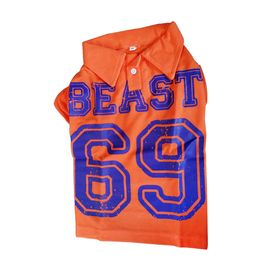 Canes Venatici Polo All Season Tshirt for Dogs, 16 inch, orange beast