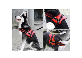 GP Padded Sports Reflective Senior Training Harness for Large to Giant Dogs, red, xxl