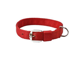 Kennel Premium Nylon Royal Collar for Large to Giant Dogs, 1.25 inch, 30 inch, red