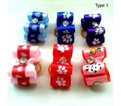 Puppy Love Premium Hair Bows for Pets, type 1, assorted
