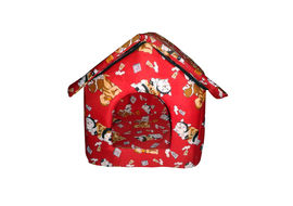 Canine Foam Cat & Puppy House, 16 x 18, red, small