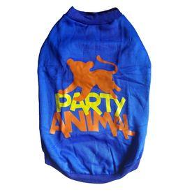 Rays Fleece Warm Rubber Print Tshirt for Medium Dogs, blue, 20 inch