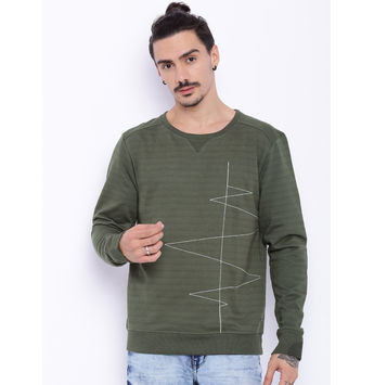 Breakbounce Garret Regular Fit Sweatshirt,  olive green, s